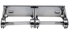 RD0384-12 Bright Chrome - Double Roll Metal Toilet Paper Dispenser