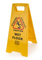 CS0701-19 Yellow - Caution Wet Floor Sign