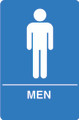IS1001-15 Blue ADA Compliant Mens Restroom Sign
