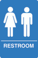 IS1005-15 Blue ADA Compliant Unisex Restroom Sign