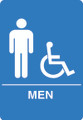 IS1002-15 Blue ADA Compliant Mens Handicap Accessible Restroom Sign