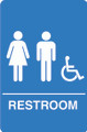 IS1006-15 Blue Handicap Accessible Unisex Restroom Sign