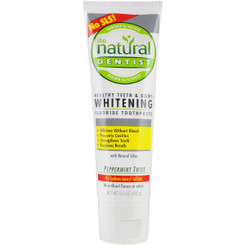 Natural Dentist Whitening Fluoride Toothpaste, Peppermint Twist 5 OZ