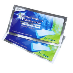 Professional 3D Teeth Whitening Strips Advanced Care 28 Counts (14 Upper and 14 Lower Strips), Mint Flavor
