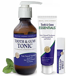 Dental Herb Company Value Pack Plus - Tonic, NEW Essentials Paste, Spritz and FREE Pump