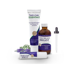 Dental Herb Company Irrigant, Essentials Toothpaste, and Spritz Value Pack Plus Free Dropper