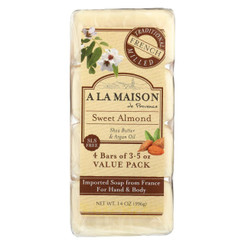 A La Maison Bar Soap - Sweet Almond - 4/3.5 Oz
