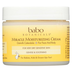 Babo Botanicals Miracle Cream - Moisturizing - Oatmilk - 2 Oz