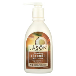 Jason Natural Products Body Wash - Smoothing Coconut - 30 Oz