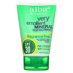 Alba Botanica Sunscreen - Alba Sun Min Spf 30 F.free 4oz. - Case Of 1 - 4 Fl Oz.