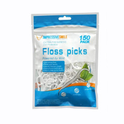 Impressive Smile Floss Picks Mint Flavor |Extra Strong| 150-Count | 1-Pack