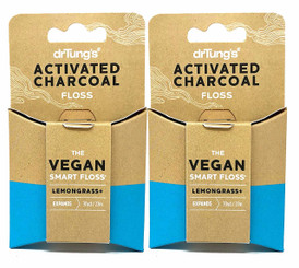 Activated Charcoal Vegan Smart Floss 30 Yards (Pack of 2)