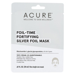 Acure - Mask - Foil-time Fortifying Silver Foil Mask - Case Of 12 - 0.67 Fl Oz.