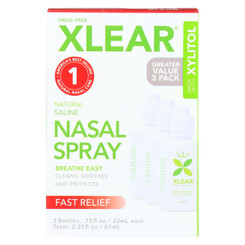 Xlear - Nasal Spray Sinus Economy - 3 Ct
