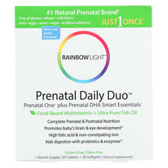 Rainbow Light Prenatal One Multivitamin And Dha 250 Smart Essentials Combo - 30 Tablets And 30 Softgels