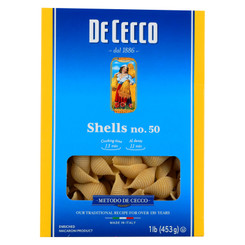 De Cecco Pasta - Pasta - Shells No.50 - Case Of 12 - 16 Oz.