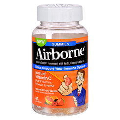 Airborne - Vitamin C Gummies For Adults - Assorted Fruit Flavors - 42 Count