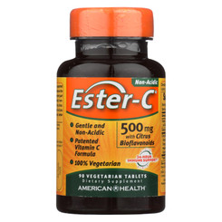 American Health - Ester-c With Citrus Bioflavonoids - 500 Mg - 90 Vegetarian Tablets