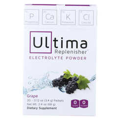 Ultima Replenisher Electrolyte Powder - Grape - 20 Count