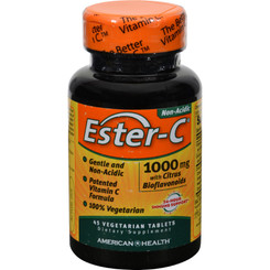 American Health - Ester-c With Citrus Bioflavonoids - 1000 Mg - 45 Vegetarian Tablets