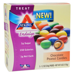 Atkins Endulge Bars - Chocolate Peanut Candies - 1.2 Oz - 5 Count