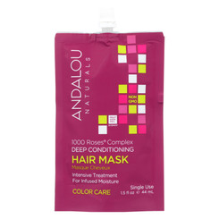 Andalou Naturals Color Care Deep Conditioning Hair Mask -1000 Roses Complex - Case Of 6 - 1.5 Fl Oz