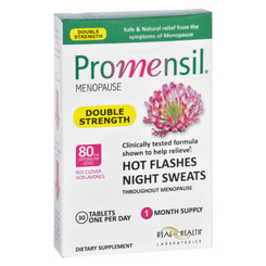 Promensil - Menopause - Double Strength - Relief Hot Flashes Night Sweats - 30 Tablets
