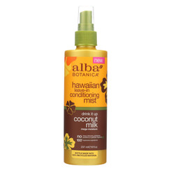 Alba Botanica - Leave In Conditioning Mist - Hawaiian - Drink It Up Coconut Milk - 8 Oz