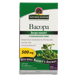 Nature's Answer - Bacopa - 500 Mg - 90 Veggie Caps