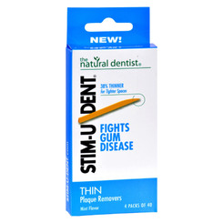 Natural Dentist Stim-u-dent Thin Plaque Removers Mint - Case Of 6 - 4 Packs