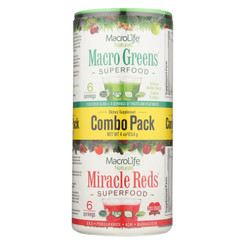 Macrolife Naturals Superfood - Macro Greens And Miracle Reds Combo Pack - 4 Oz