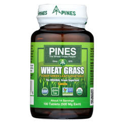 Pines International Organic Wheat Grass - 500 Mg - 100 Tablets
