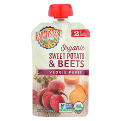Earth's Best Organic Sweet Potato And Beets Baby Food Puree - Stage 2 - Case Of 12 - 3.5 Oz.