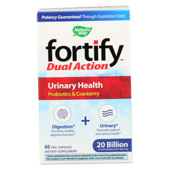 Nature's Way - Fortify Dual Action Urinary Health - Probiotics And Cranberry - 60 Veg. Capsules