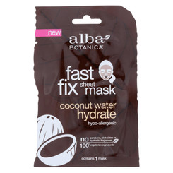 Alba Botanica - Fast Fix Sheet Mask - Coconut Water Hydrate - Case Of 8 - 1 Count