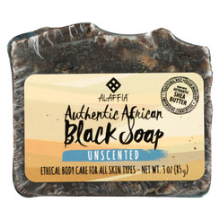 Alaffia - African Black Soap - Unscented - 3 Oz.