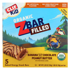 Clif Kid Zbar - Filled Organic Zbar - Banana With Chocolate Peanut Butter - Case Of 8 - 5/1.06 Oz.