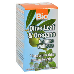 Bio Nutrition - Immune Wellness - Olive Leaf And Oregano - 60 Vcaps