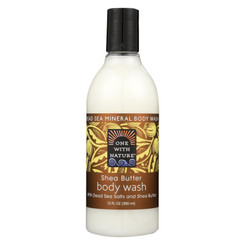 One With Nature Dead Sea Mineral Body Wash Shea Butter - 12 Fl Oz