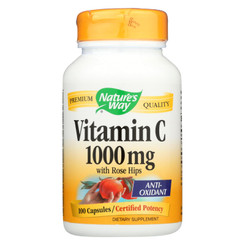 Nature's Way - Vitamin C With Rose Hips - 1000 Mg - 100 Capsules