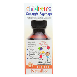 Natrabio Children's Cough Syrup Cherry Berry - 4 Fl Oz