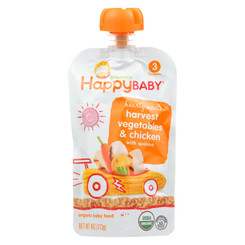 Happy Baby Organic Baby Food Stage 3 Chick Chick - 4 Oz - Case Of 16