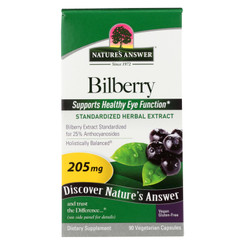 Nature's Answer - Bilberry Extract - 90 Vegetarian Capsules