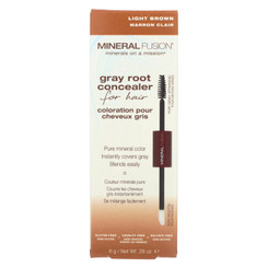 Mineral Fusion - Gray Root Concealer - Light Brown - 0.28 Oz.