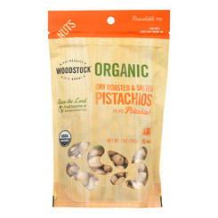 Woodstock - Organic Roasted Salted Pistachios - Case Of 8 - 7 Oz.