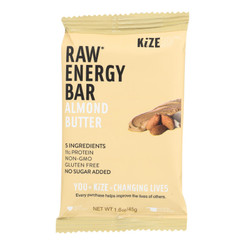 Kize Concepts - Energy Bar Raw Almond-butter - Case Of 10-1.6oz