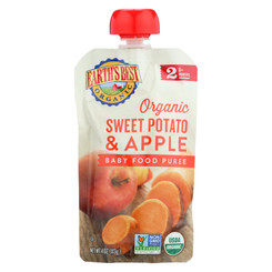 Earth's Best Organic Sweet Potato Apple Baby Food Puree - Stage 2 - Case Of 12 - 4 Oz.