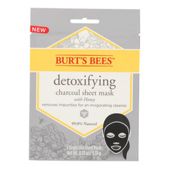 Burts Bees - Face Sheet Dtoxyfyng Mask - Case Of 6 - .33 Oz