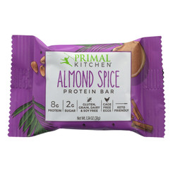 Primal Kitchen Almond Spice Protein Bar - Case Of 12 - 1.34 Oz