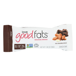 Love Good Fats - Bar Rich Chocolate Almond - Case Of 12 - 1.38 Oz